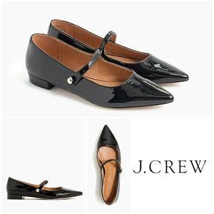 NIB J. Crew Patent Mary Jane Pointed Toe Flats
